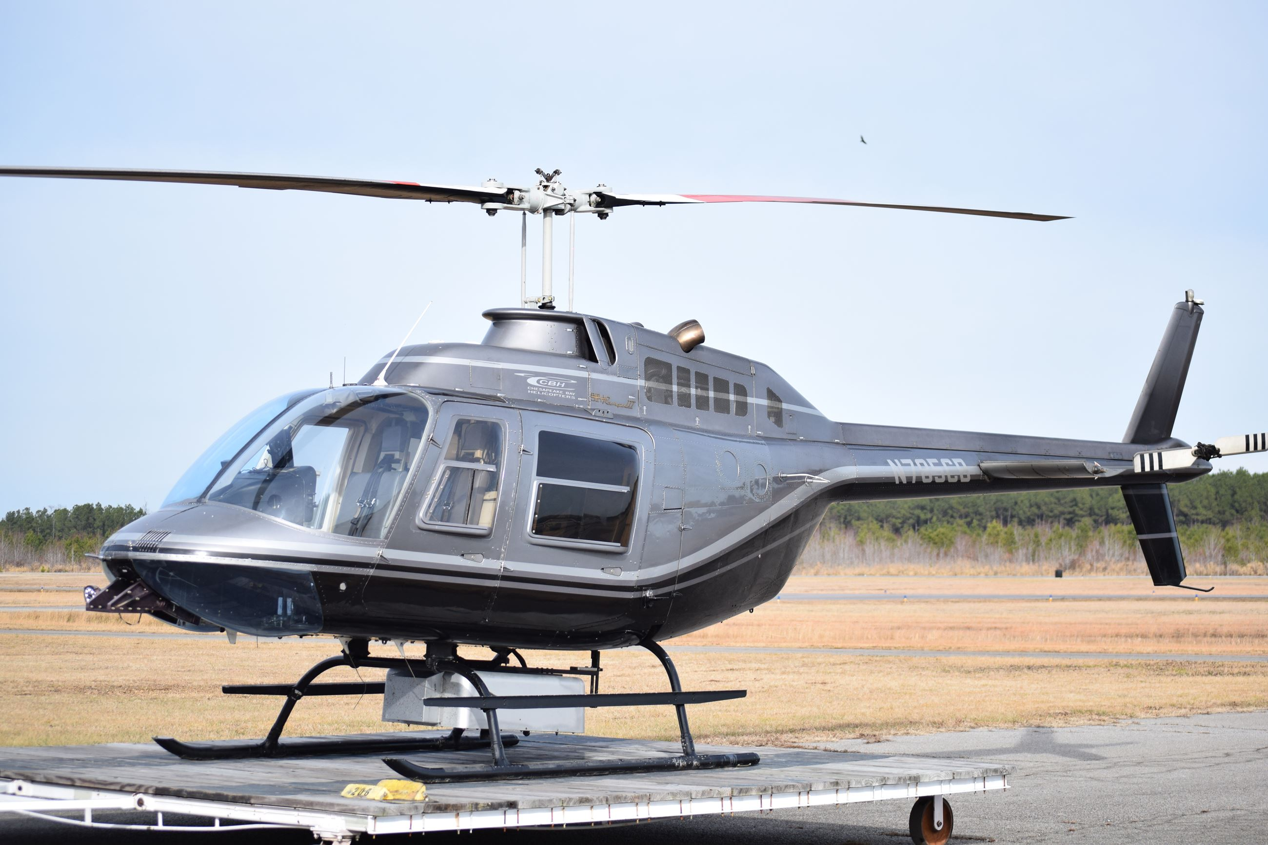Picture of JCP&L Helicopter to be used for routine patrols.